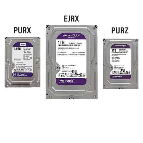 تفاوت مدلهای PURX ، PURZ و EJRX هارد دیسک بنفش رنگ وسترن دیجیتال